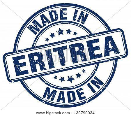 made in Eritrea blue round vintage stamp.Eritrea stamp.Eritrea seal.Eritrea tag.Eritrea.Eritrea sign.Eritrea.Eritrea label.stamp.made.in.made in.