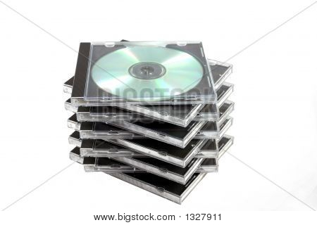 Stack Of Cd Cases