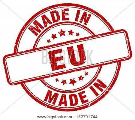 made in eu red round vintage stamp.eu stamp.eu seal.eu tag.eu.eu sign.eu.eu label.stamp.made.in.made in.