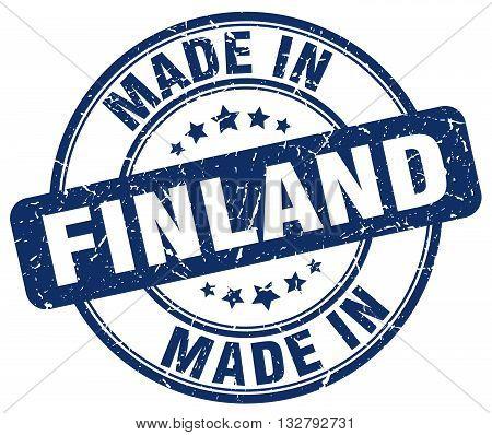 made in Finland blue round vintage stamp.Finland stamp.Finland seal.Finland tag.Finland.Finland sign.Finland.Finland label.stamp.made.in.made in.