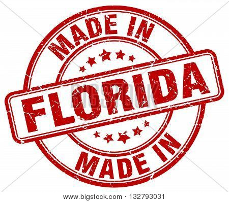 made in Florida red round vintage stamp.Florida stamp.Florida seal.Florida tag.Florida.Florida sign.Florida.Florida label.stamp.made.in.made in.