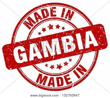made in Gambia red round vintage stamp.Gambia stamp.Gambia seal.Gambia tag.Gambia.Gambia sign.Gambia.Gambia label.stamp.made.in.made in.