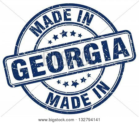made in Georgia blue round vintage stamp.Georgia stamp.Georgia seal.Georgia tag.Georgia.Georgia sign.Georgia.Georgia label.stamp.made.in.made in.