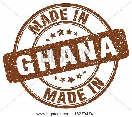 made in Ghana brown round vintage stamp.Ghana stamp.Ghana seal.Ghana tag.Ghana.Ghana sign.Ghana.Ghana label.stamp.made.in.made in.