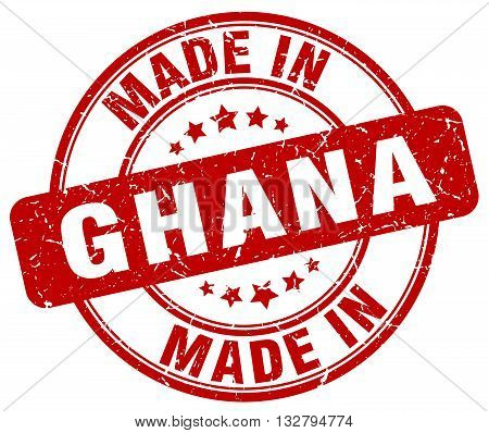 made in Ghana red round vintage stamp.Ghana stamp.Ghana seal.Ghana tag.Ghana.Ghana sign.Ghana.Ghana label.stamp.made.in.made in.