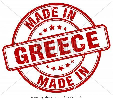 made in Greece red round vintage stamp.Greece stamp.Greece seal.Greece tag.Greece.Greece sign.Greece.Greece label.stamp.made.in.made in.