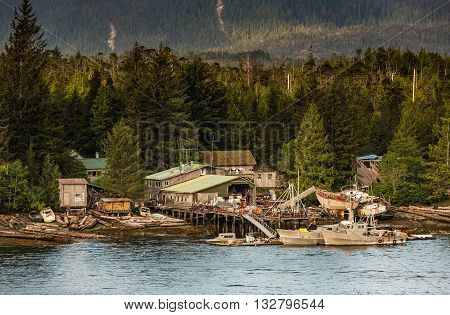 Ramshackle Boat Salvage Businesses Near Ketchikan
