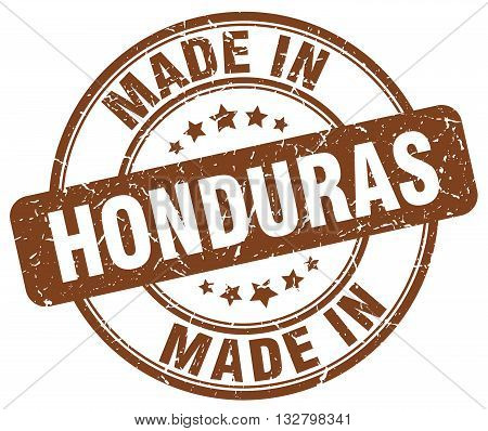 made in Honduras brown round vintage stamp.Honduras stamp.Honduras seal.Honduras tag.Honduras.Honduras sign.Honduras.Honduras label.stamp.made.in.made in.