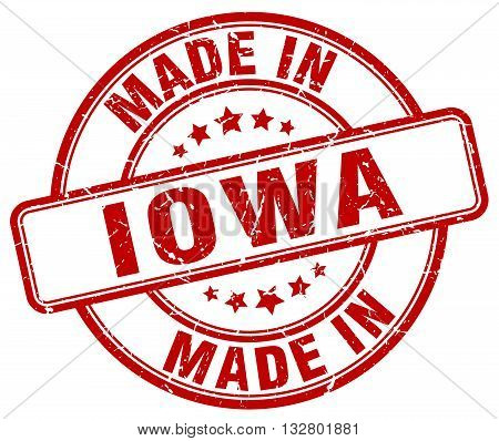 made in Iowa red round vintage stamp.Iowa stamp.Iowa seal.Iowa tag.Iowa.Iowa sign.Iowa.Iowa label.stamp.made.in.made in.