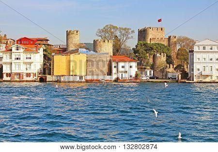 Anadoluhisarı (Anatolian Castle) and Asian side of Istanbul, Turkey
