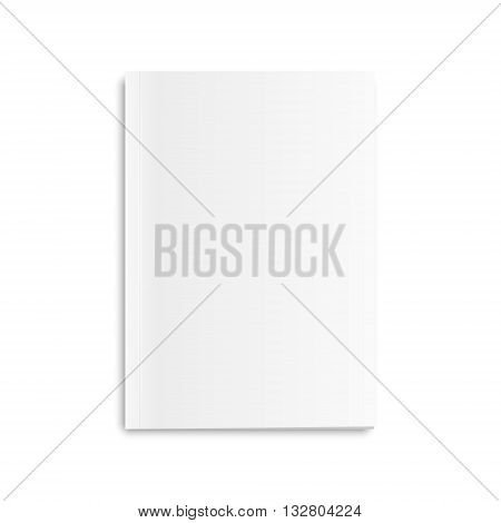 Blank closed magazine, isolated on a white background. Vector EPS10 illustration.