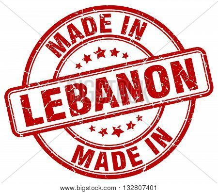 made in Lebanon red round vintage stamp.Lebanon stamp.Lebanon seal.Lebanon tag.Lebanon.Lebanon sign.Lebanon.Lebanon label.stamp.made.in.made in.