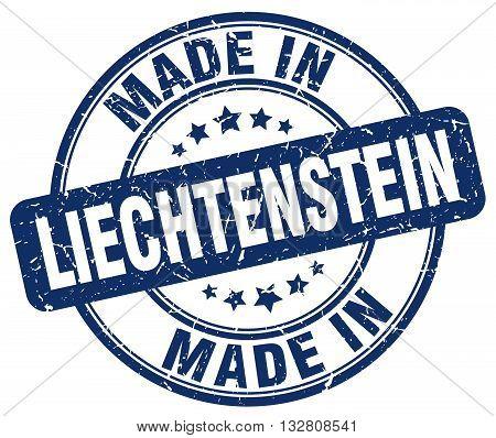 made in Liechtenstein blue round vintage stamp.Liechtenstein stamp.Liechtenstein seal.Liechtenstein tag.Liechtenstein.Liechtenstein sign.Liechtenstein.Liechtenstein label.stamp.made.in.made in.