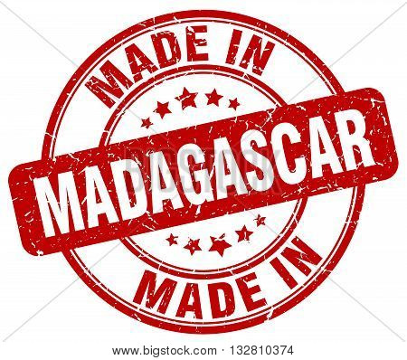 made in Madagascar red round vintage stamp.Madagascar stamp.Madagascar seal.Madagascar tag.Madagascar.Madagascar sign.Madagascar.Madagascar label.stamp.made.in.made in.
