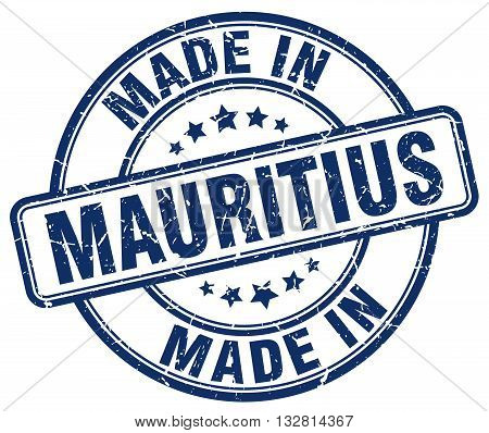 made in Mauritius blue round vintage stamp.Mauritius stamp.Mauritius seal.Mauritius tag.Mauritius.Mauritius sign.Mauritius.Mauritius label.stamp.made.in.made in.