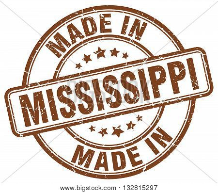 made in Mississippi brown round vintage stamp.Mississippi stamp.Mississippi seal.Mississippi tag.Mississippi.Mississippi sign.Mississippi.Mississippi label.stamp.made.in.made in.