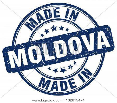made in Moldova blue round vintage stamp.Moldova stamp.Moldova seal.Moldova tag.Moldova.Moldova sign.Moldova.Moldova label.stamp.made.in.made in.