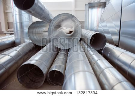 Ventilation stacks. A large amount of air-channels, picture may be used as a background