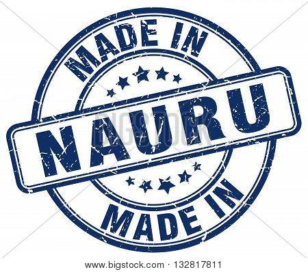 made in Nauru blue round vintage stamp.Nauru stamp.Nauru seal.Nauru tag.Nauru.Nauru sign.Nauru.Nauru label.stamp.made.in.made in.