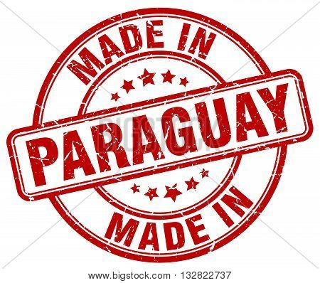 made in Paraguay red round vintage stamp.Paraguay stamp.Paraguay seal.Paraguay tag.Paraguay.Paraguay sign.Paraguay.Paraguay label.stamp.made.in.made in.