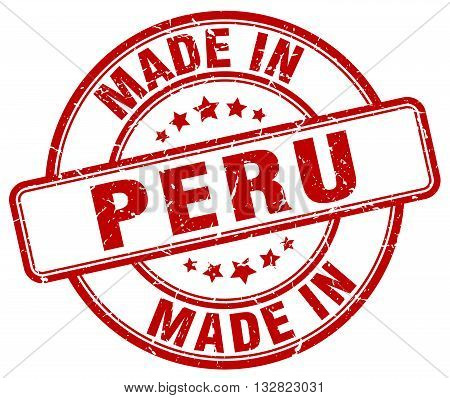 made in Peru red round vintage stamp.Peru stamp.Peru seal.Peru tag.Peru.Peru sign.Peru.Peru label.stamp.made.in.made in.