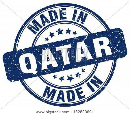 made in Qatar blue round vintage stamp.Qatar stamp.Qatar seal.Qatar tag.Qatar.Qatar sign.Qatar.Qatar label.stamp.made.in.made in.
