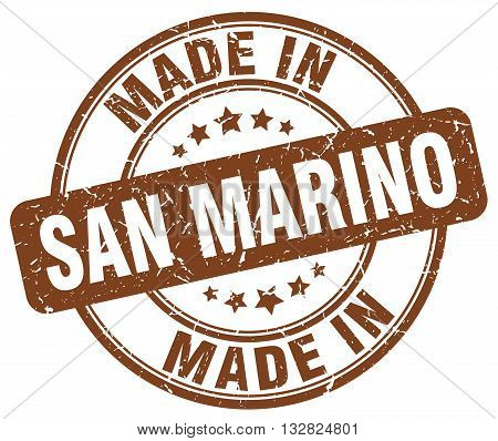 made in San Marino brown round vintage stamp.San Marino stamp.San Marino seal.San Marino tag.San Marino.San Marino sign.San.Marino.San Marino label.stamp.made.in.made in.