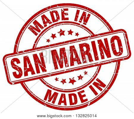 made in San Marino red round vintage stamp.San Marino stamp.San Marino seal.San Marino tag.San Marino.San Marino sign.San.Marino.San Marino label.stamp.made.in.made in.