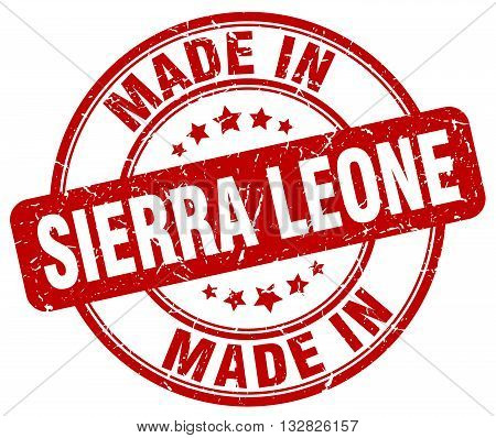 made in Sierra Leone red round vintage stamp.Sierra Leone stamp.Sierra Leone seal.Sierra Leone tag.Sierra Leone.Sierra Leone sign.Sierra.Leone.Sierra Leone label.stamp.made.in.made in.