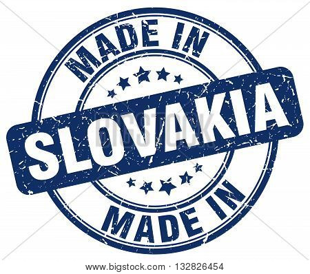 made in Slovakia blue round vintage stamp.Slovakia stamp.Slovakia seal.Slovakia tag.Slovakia.Slovakia sign.Slovakia.Slovakia label.stamp.made.in.made in.