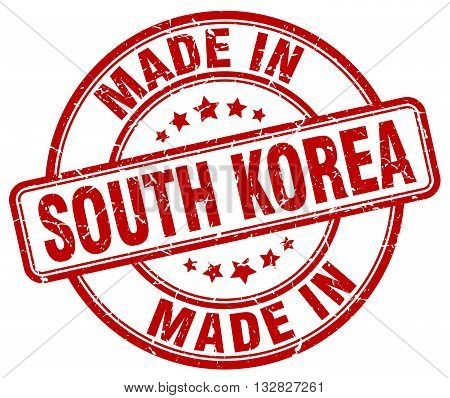 made in South Korea red round vintage stamp.South Korea stamp.South Korea seal.South Korea tag.South Korea.South Korea sign.South.Korea.South Korea label.stamp.made.in.made in.