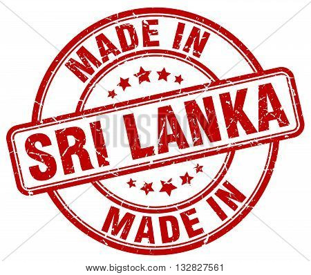 made in Sri Lanka red round vintage stamp.Sri Lanka stamp.Sri Lanka seal.Sri Lanka tag.Sri Lanka.Sri Lanka sign.Sri.Lanka.Sri Lanka label.stamp.made.in.made in.