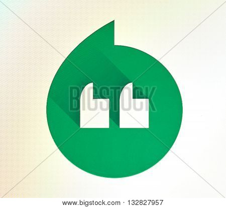 MONTREAL CANADA - MAY 23 2016 : Google Hangouts logo. Google Hangouts is a communication platform developed by Google which includes instant messaging video chat SMS and VOIP features