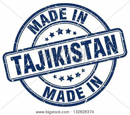made in Tajikistan blue round vintage stamp.Tajikistan stamp.Tajikistan seal.Tajikistan tag.Tajikistan.Tajikistan sign.Tajikistan.Tajikistan label.stamp.made.in.made in.