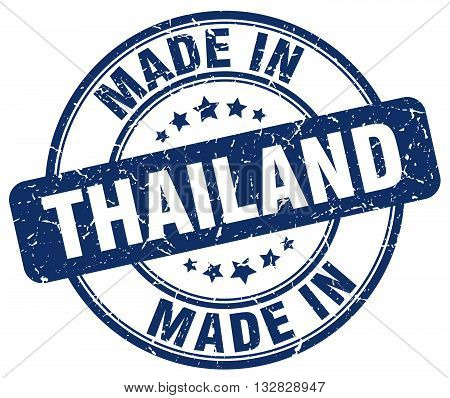 made in Thailand blue round vintage stamp.Thailand stamp.Thailand seal.Thailand tag.Thailand.Thailand sign.Thailand.Thailand label.stamp.made.in.made in.