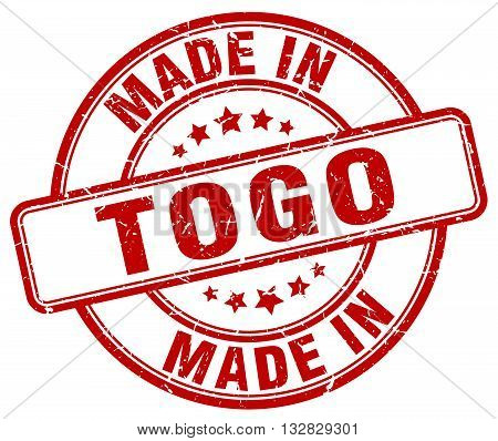 made in Togo red round vintage stamp.Togo stamp.Togo seal.Togo tag.Togo.Togo sign.Togo.Togo label.stamp.made.in.made in.