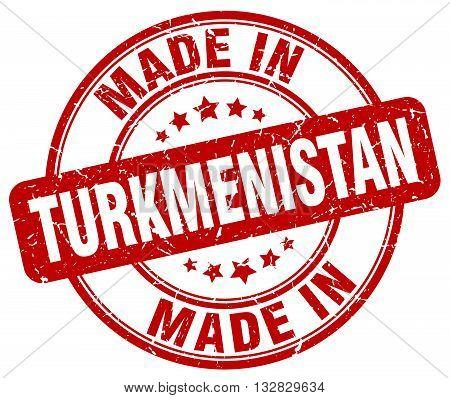 made in Turkmenistan red round vintage stamp.Turkmenistan stamp.Turkmenistan seal.Turkmenistan tag.Turkmenistan.Turkmenistan sign.Turkmenistan.Turkmenistan label.stamp.made.in.made in.