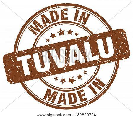 made in Tuvalu brown round vintage stamp.Tuvalu stamp.Tuvalu seal.Tuvalu tag.Tuvalu.Tuvalu sign.Tuvalu.Tuvalu label.stamp.made.in.made in.