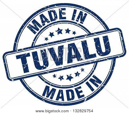made in Tuvalu blue round vintage stamp.Tuvalu stamp.Tuvalu seal.Tuvalu tag.Tuvalu.Tuvalu sign.Tuvalu.Tuvalu label.stamp.made.in.made in.