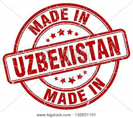 made in Uzbekistan red round vintage stamp.Uzbekistan stamp.Uzbekistan seal.Uzbekistan tag.Uzbekistan.Uzbekistan sign.Uzbekistan.Uzbekistan label.stamp.made.in.made in.