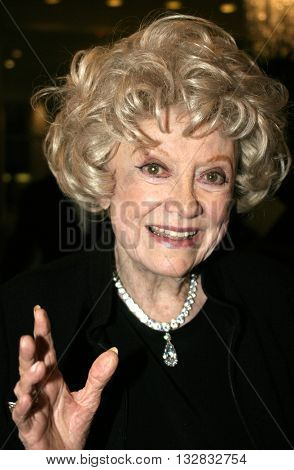 Phyllis Diller at the 'A Place Called Home 11th Annual Gala' for the Children at the Beverly Hilton Hotel in Beverly Hills. USA on October 28, 2004.