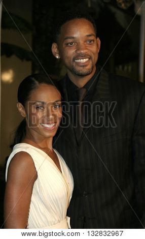 Will Smith and Jada Pinkett Smith at the Los Angeles premiere of 'Ray' held at the Cinerama Dome in Hollywood, USA on October 19, 2004.