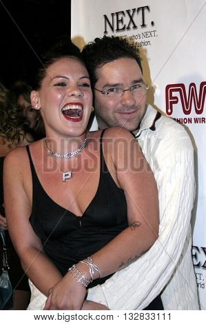 Pink and Dave Meyers at the 2nd Semi Annual Fashion Wire Daily's event NEXT at Mondrian Hotel's SkyBar in West Hollywood, USA on October 25, 2004.
