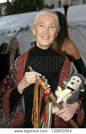 Dr. Jane Goodall at the 'In Defense of Animals Hosts 2nd Annual Guardian Award' at the Paramount Studios in Los Angeles, USA on October 30, 2004.