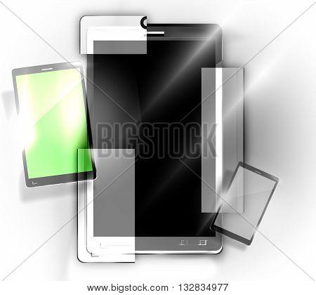 Modular smartphones graphic illustration design modern image