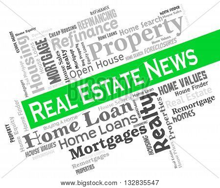 Real Estate News Means For Sale And Headlines