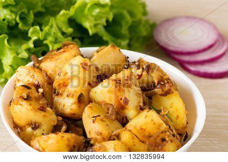 Sri Lankan Fried potato curry or ala curry