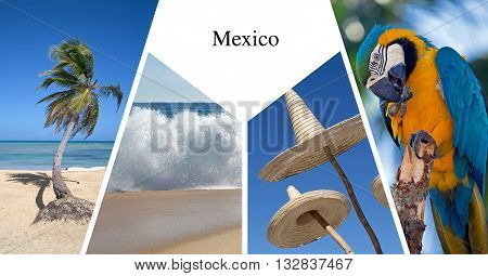 Mexico presentation card made with four images