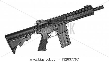 Machine gun isolated on a white background