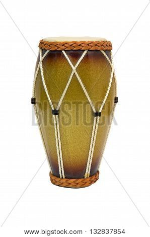 Nice djembe drum  isolated on a white background